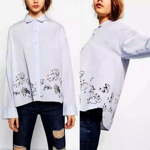 Zara TRF Collection Doodle Print Shirt
